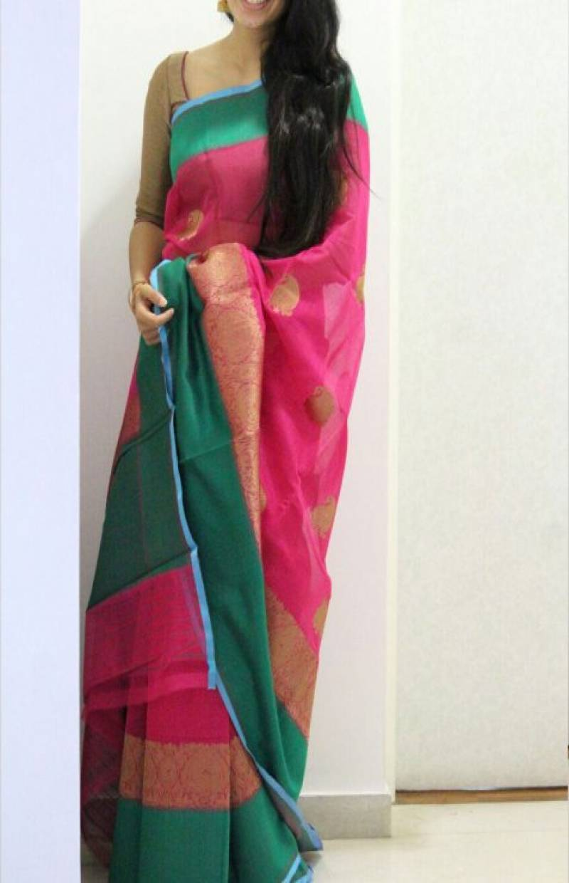 Fashionable Multicolor Color Soft Silk Designer Sarees - SB701