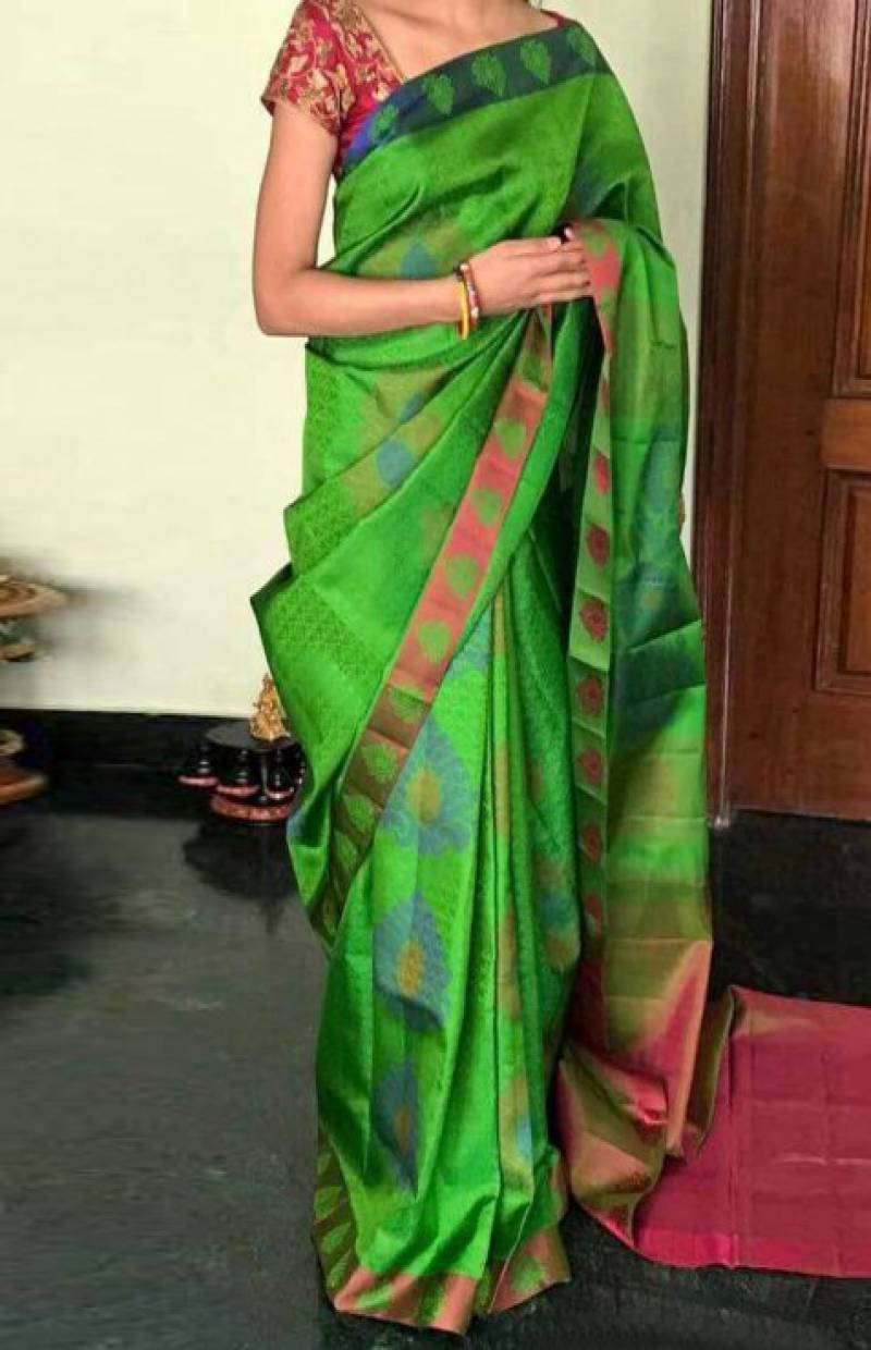 Dynammic Green Color Soft Silk Designer Sarees - SB716