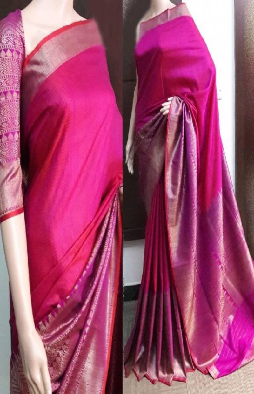 Dynammic Pink Color Soft Silk Saree - SB745