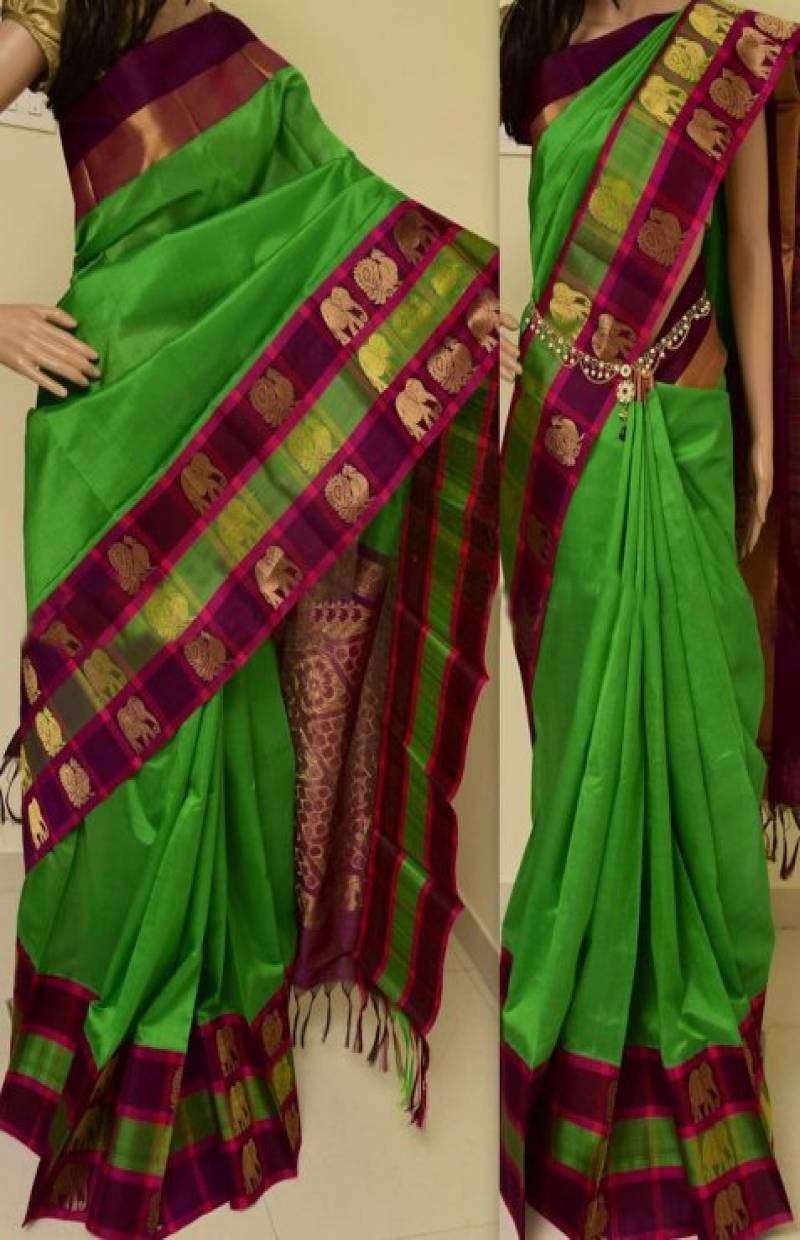 Charming Green Color Soft Silk Designer Sarees - SB893