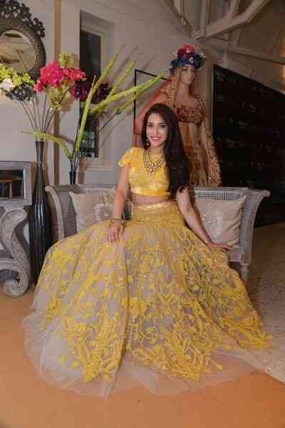 Yellow Heavy Embroidered And Lace Work Attractive Party Wear Lehenga SD451  30""