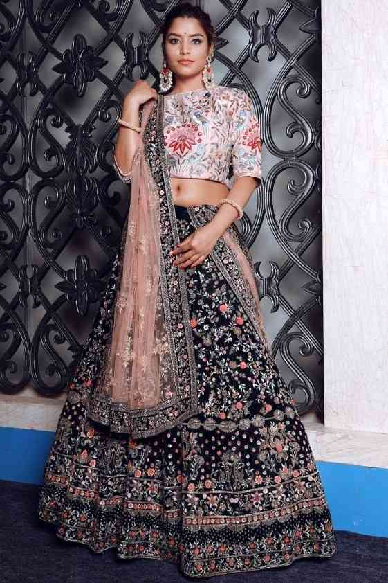 Nevi Blue Embroidered Attractive Party Wear Lehenga LC--214  30""