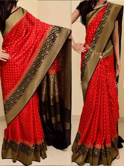 Red Color Soft Silk Saree - sd848  30""
