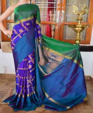 Classic Multi Color Soft Silk Designer Saree - sd906  30""