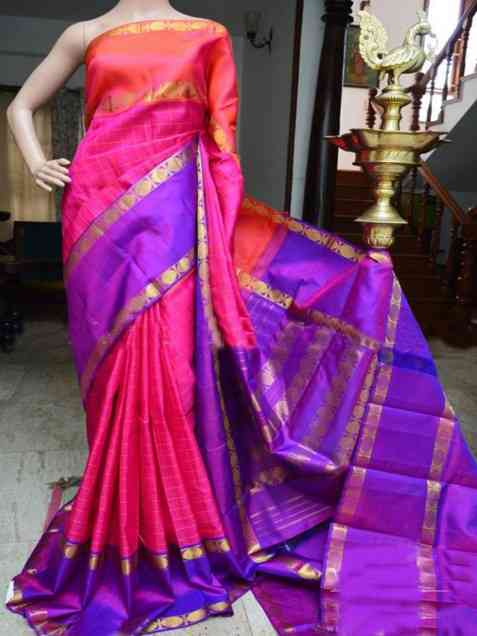 Delightful pink Color Soft Silk Designer Sarees - sd914  30""