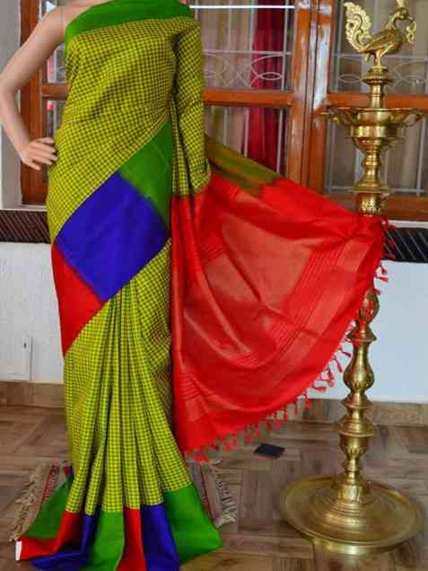 Coruscate Green Color Soft Silk Designer Sarees - sd921  30""