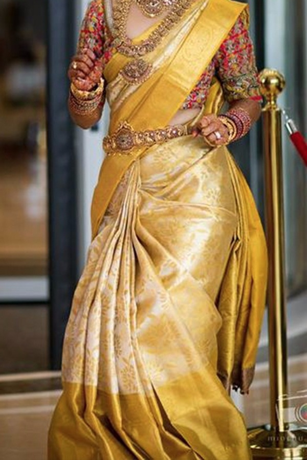 1041c1651a Yellow partywear Colored soft silk sarees SD183 | www.sarideal.in
